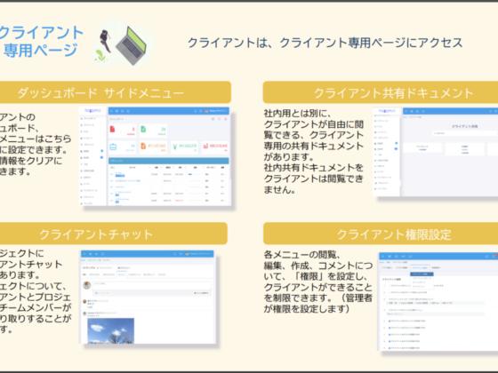 テレワーク導入ツールのテレワンプラス資料 クライアント専用ページ